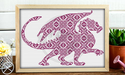 [CROSS STITCH PATTERN] Folk Dragon