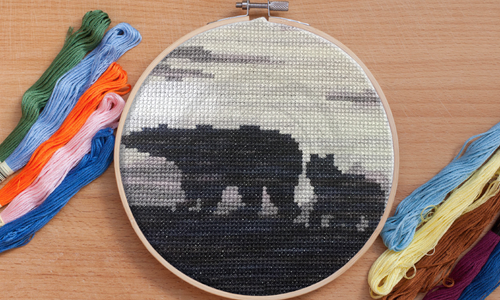 [CROSS STITCH PATTERN] Polar Bears