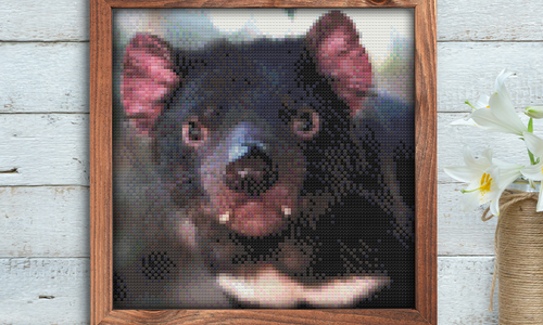 [Cross Stitch Pattern] Tasmanian Devil Portrait