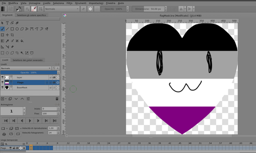File with flags for Krita