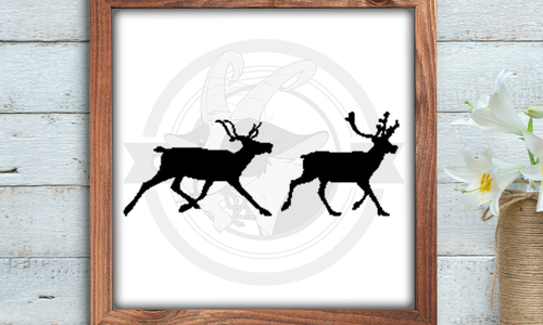 [CROSS STITCH PATTERN] Prancing Reindeer