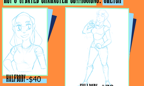 Commission List 1: CHARACTER DRAWING; 600dpi