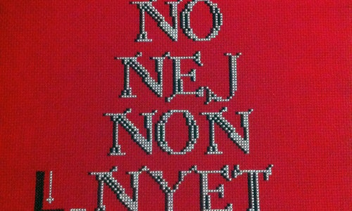 No No No Cross Stitch Pattern