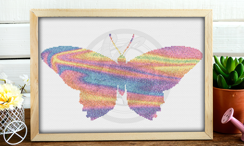 [Cross Stitch Pattern] Painted Butterfly