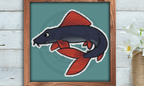 [CROSS STITCH PATTERN] Rainbow Shark