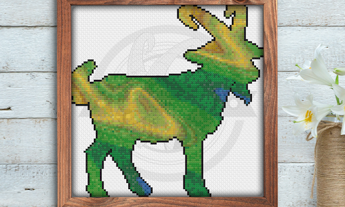 [CROSS STITCH PATTERN] Painted Goat