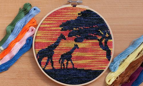[CROSS STITCH PATTERN] African Giraffes