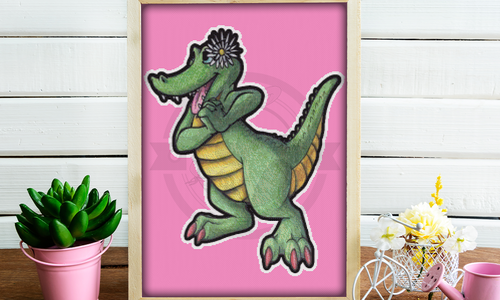 [CROSS STITCH PATTERN] Happy Alligator